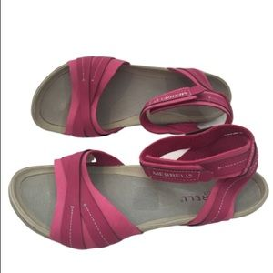 Merrell Womens Pink Comfort Sandals Size 7